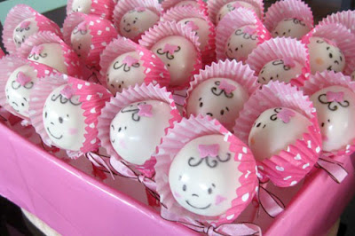 Pink baby it's a girl cake pops