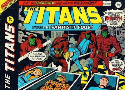 Marvel UK, The Titans #44, Fantastic Four vs the Maggia