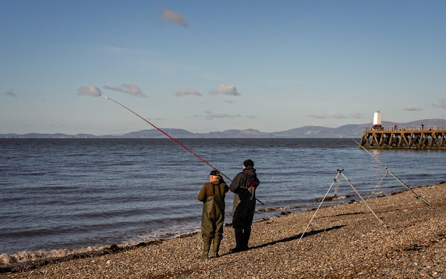 Photo of some of the fishermen taking part in the competition