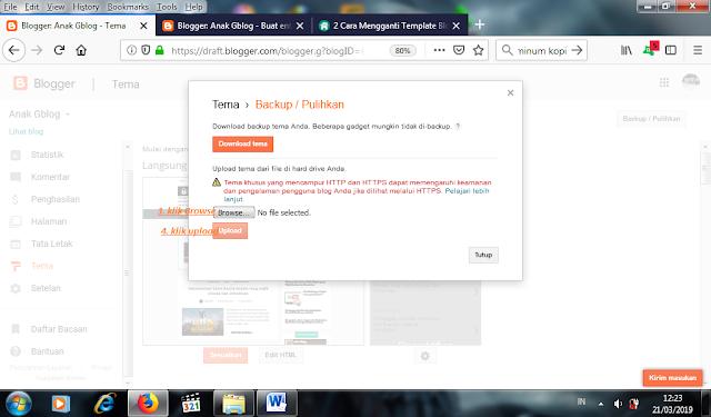 cara mudah edit tema blog, cara mudah mengganti template blog