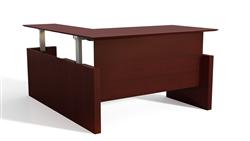Height Adjustable L Shaped Desk