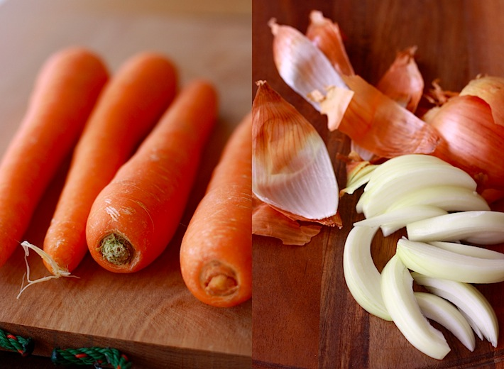 ingredients for carrot soup