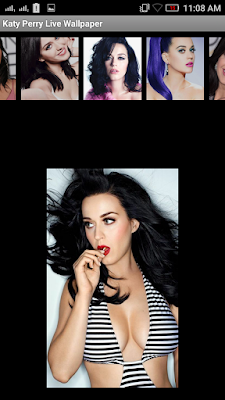Katy Perry 3D live Wallpaper For Android Mobile Phone