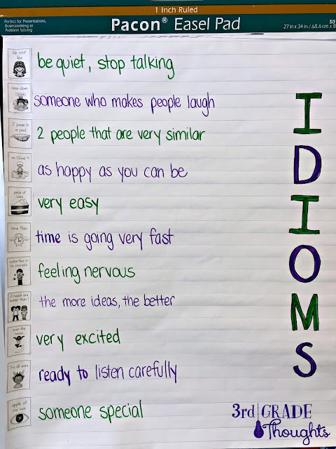 A Fun Twist On Writing Idioms 3rd Grade Thoughts