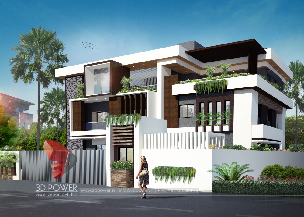 Residential towers row houses township designs villa for Bungalow plans