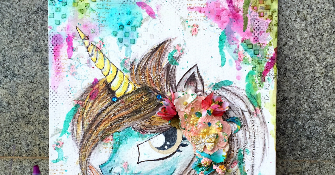 The Colour Press Video Tutorial Diy Unicorn Wall