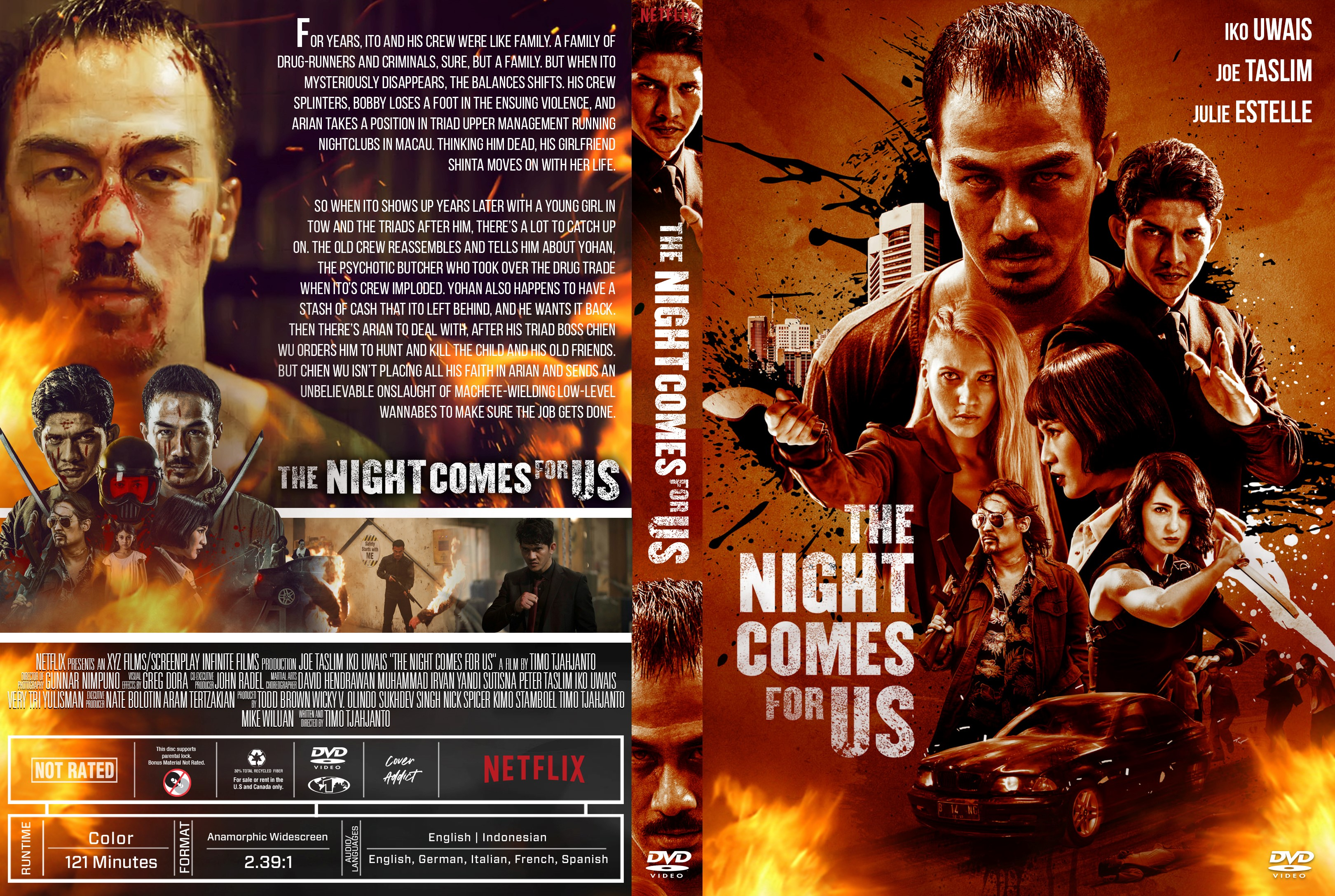 the night comes for us dvd cover cover addict dvd