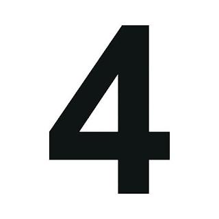 cyfra 4 do druku