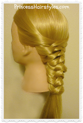 Easy hairstyle! Zig Zag woven braid tutorial.
