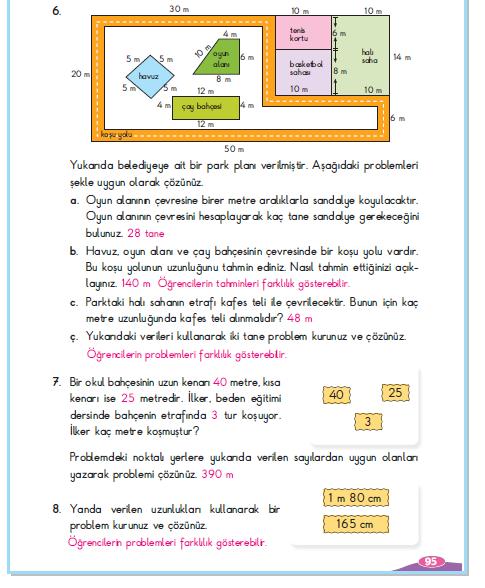 3. Sınıf Berkay Yayınları Matematik Çalışma Kitabı 95. Sayfa Cevapları 5-2 Çalışma