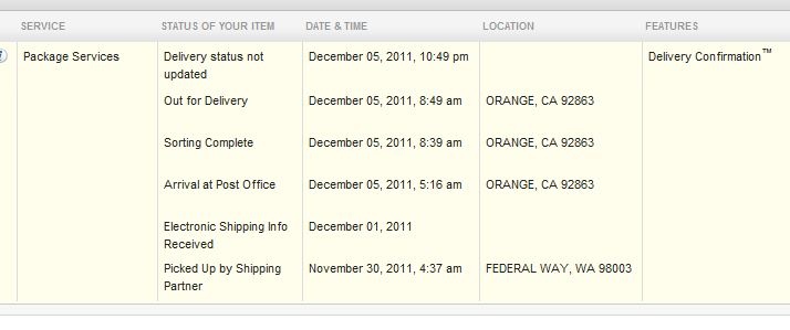 Tracking usps not updating