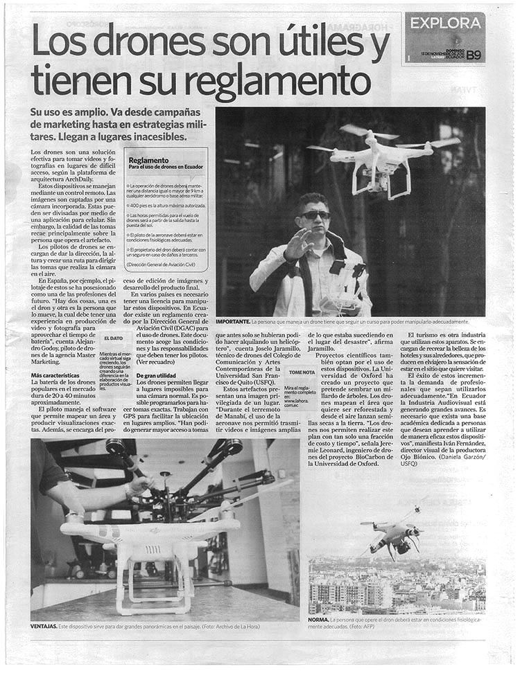 Los drones son útiles y tienen su reglamento