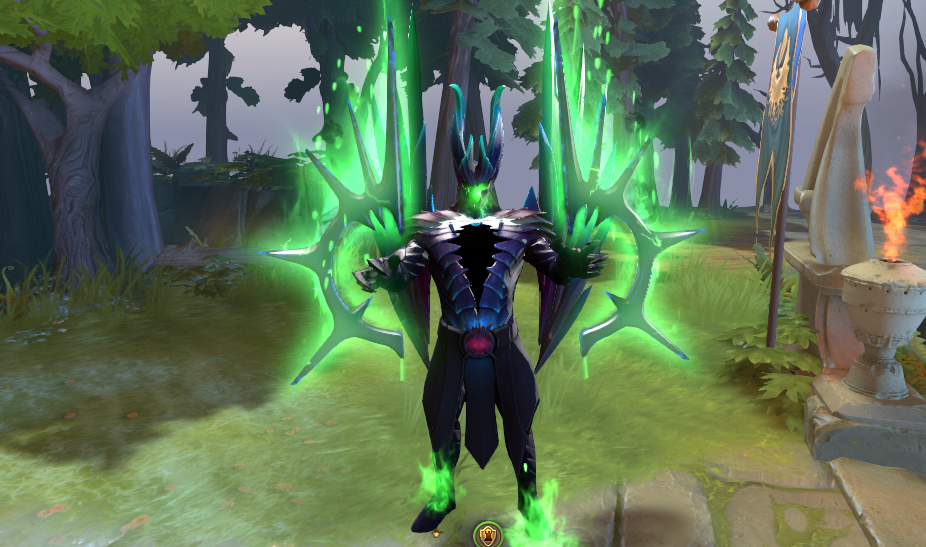 Mod Terrorblade Fractal Horns of Inner Abysm Arcana Green ...