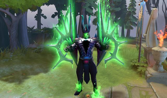 Mod Terrorblade Fractal Horns of Inner Abysm Arcana Green