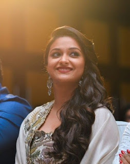 Keerthy Suresh in white Dress with Cute Smile in Saamy Square Audio Launch 6