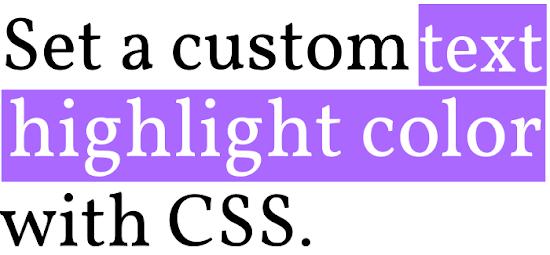 cara mengubah warna tulisan saat disorot