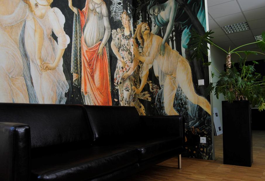 papier peint pais pour mur abim. Black Bedroom Furniture Sets. Home Design Ideas