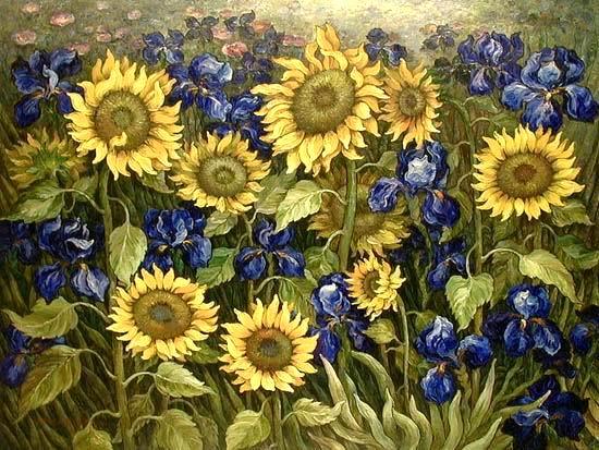 Tranh VanGogh, Tranh sơn dầu