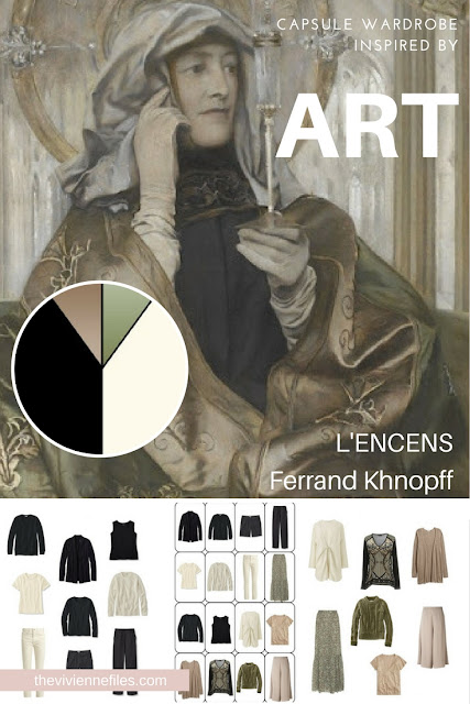 How to Personalize Neutrals in a Capsule Wardrobe - Start With Art: L'Encens by Ferrand Khnopff