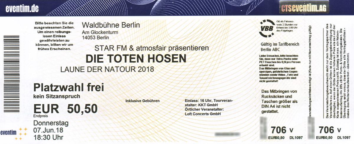 Die Toten Hosen - Waldbühne Berlin