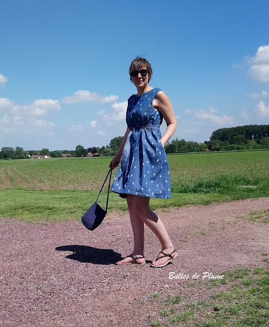 Bulles de Plume robe Trapèze femme couture