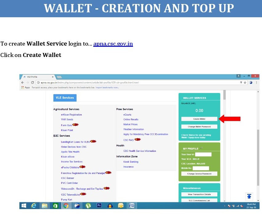 HOW TO WALLET CREATION AND TOP UP