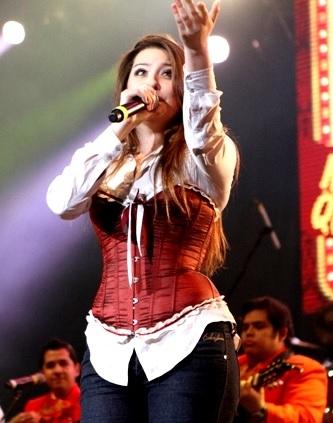 Foto de María José Quintanilla en el escenario