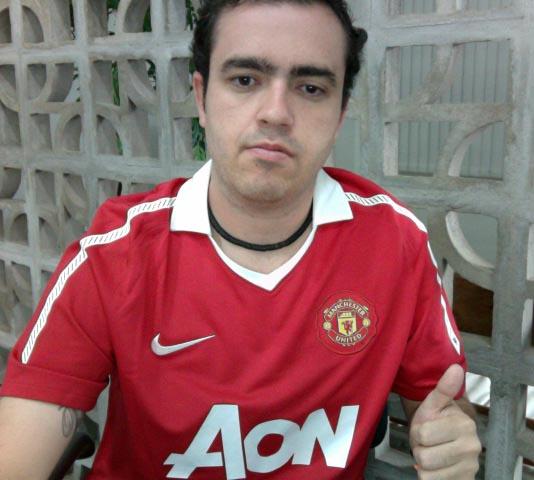 Relatos.   007 - Camisa Manchester United - Uniforme I 2010 2011 ba57be75bf3de