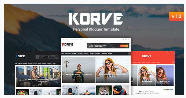 Korve  Personal Blogger Template