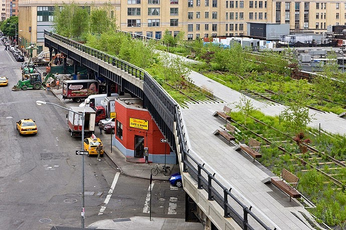 El High Line o jardines flotantes de Nueva York