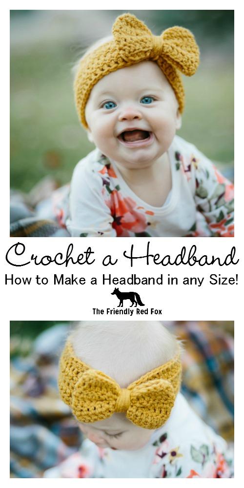 How To Crochet A Headband In Any Size Thefriendlyredfoxcom