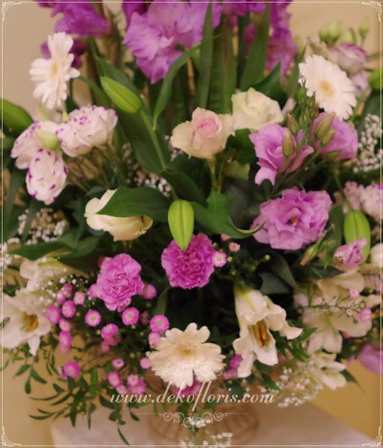 Fioletowa dekoracja weselna opolskie
