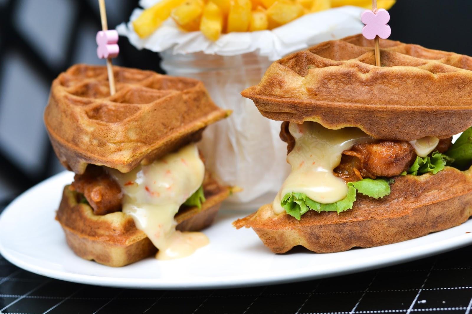 Chicken Waffle Sandwich in Lagos