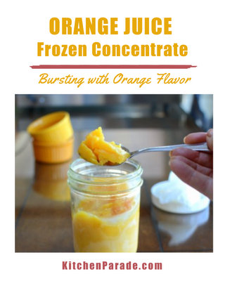 Frozen Orange Juice Concentrate, another magic ingredient ♥ KitchenParade.com, for intense, undiluted orange flavor for baking, salads, even savory dishes.