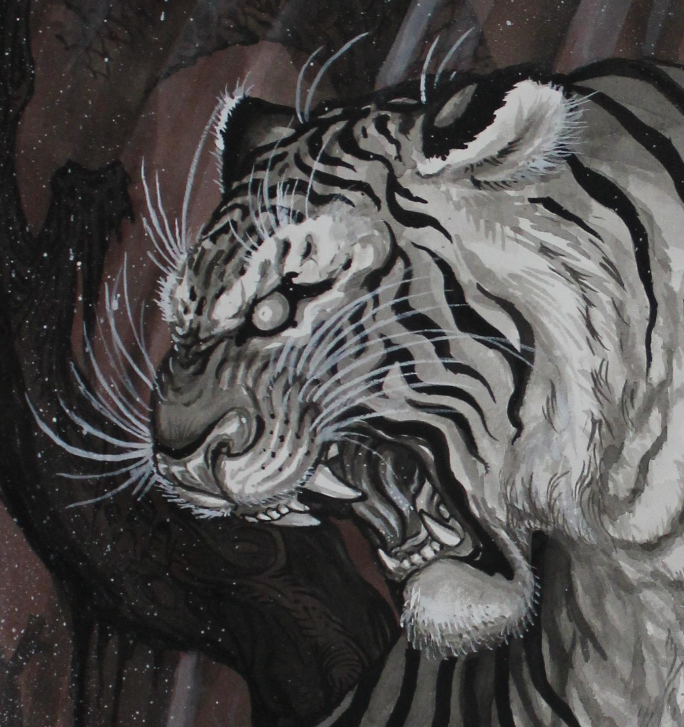 9e0c7822e TIM LEHI: dragon tiger tryptic AUG.13 art show sneak peek