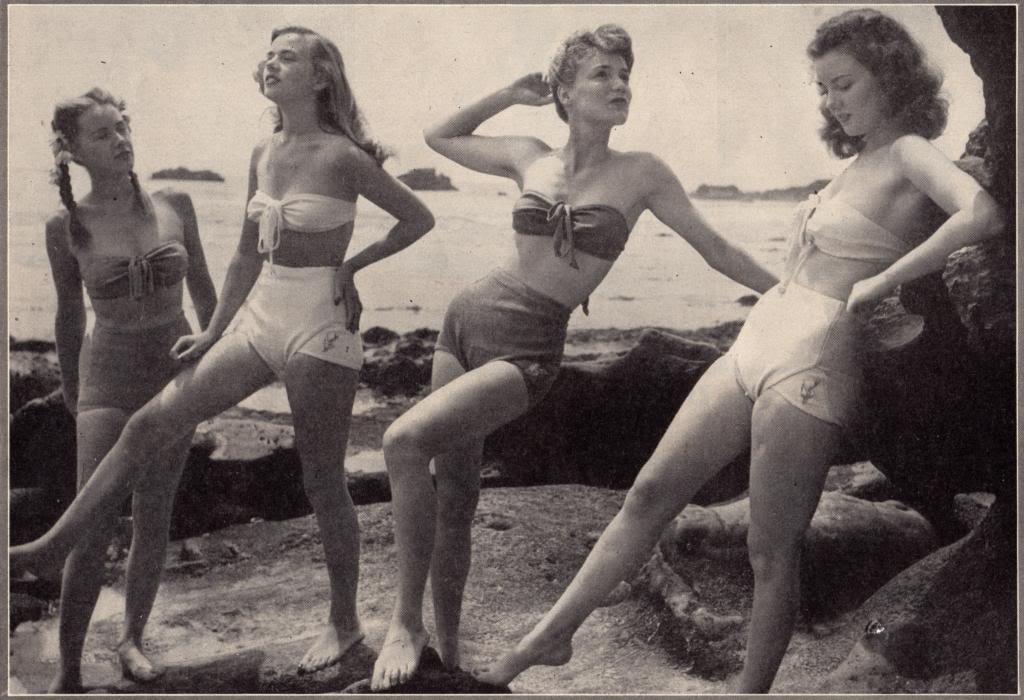 Vintage women in bathing suits