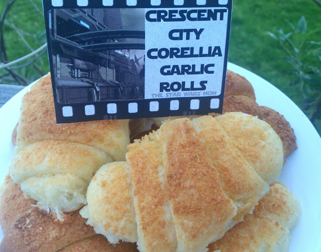 Crescent City, Corellia Garlic Rolls - Star Wars Party Food Recipe and Label