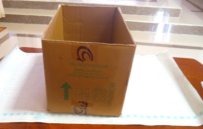 DIY Cardboard storage box for organizing
