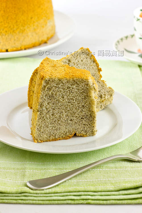 Black Sesame Chiffon Cake01