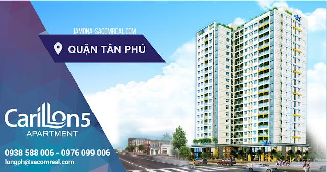 Phối cảnh dự án căn hộ Carillon 5 tại quận Tân Phú (gần Đầm Sen).