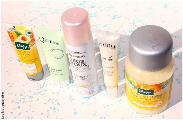 Les favoris beauté du blog : Kneipp, Qiriness, Garnier et ioma