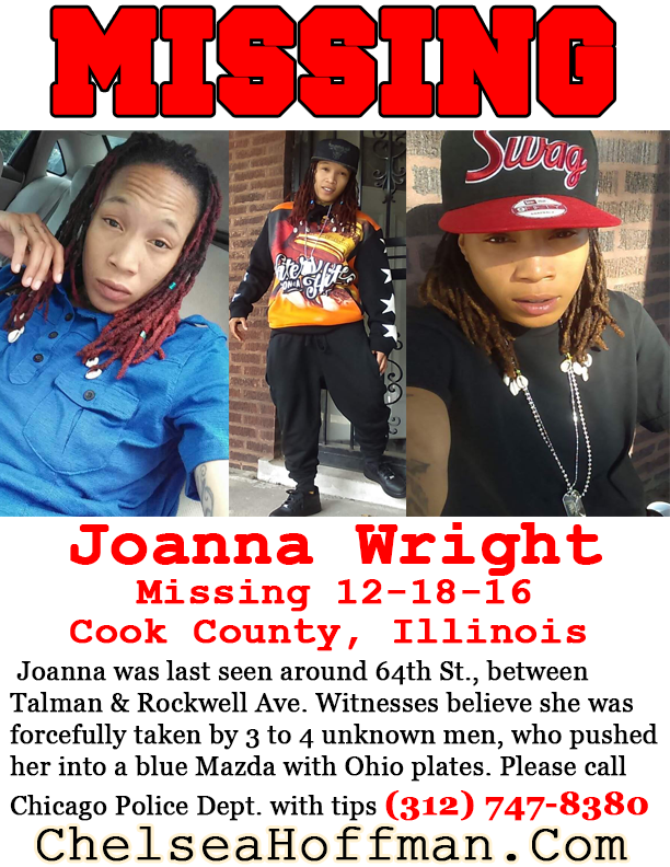 Chicago, Illinois: Joanna Wright missing since Dec. 18, 2016