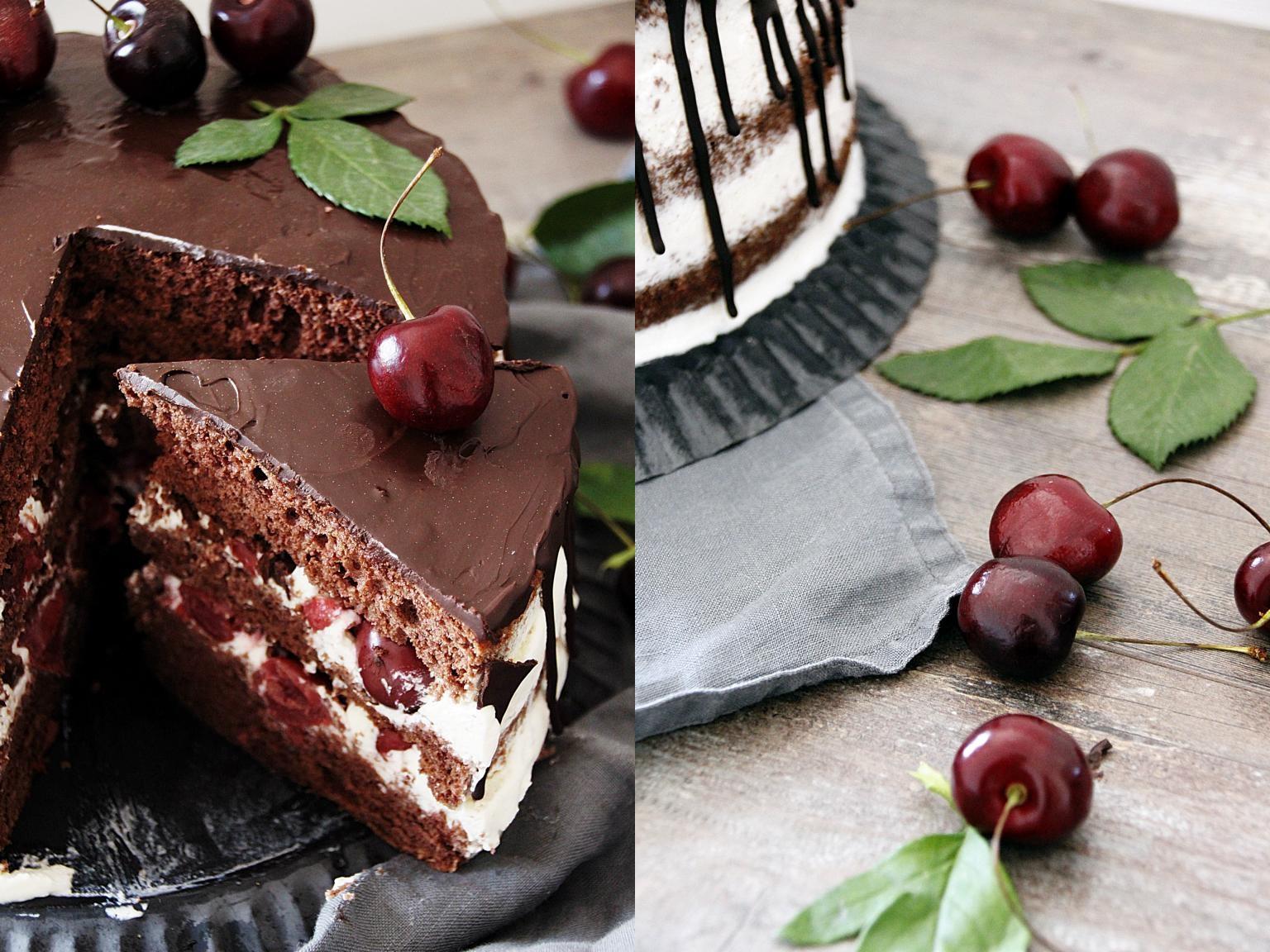 Anschnittfoto der Torte