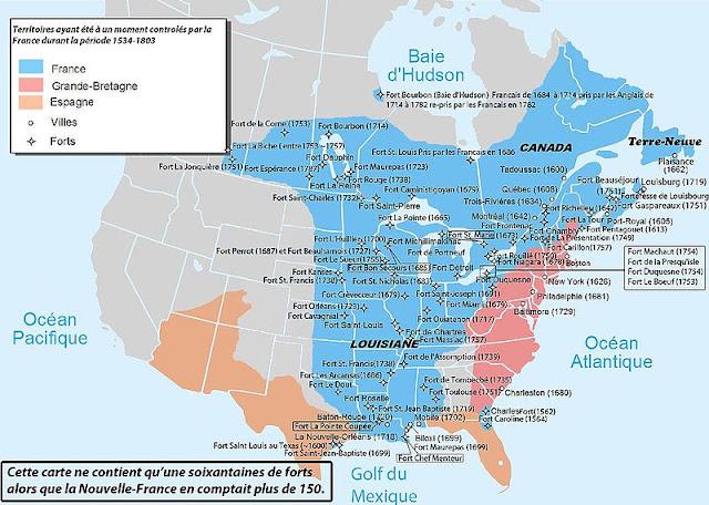 Carte Nouvelle France Empire