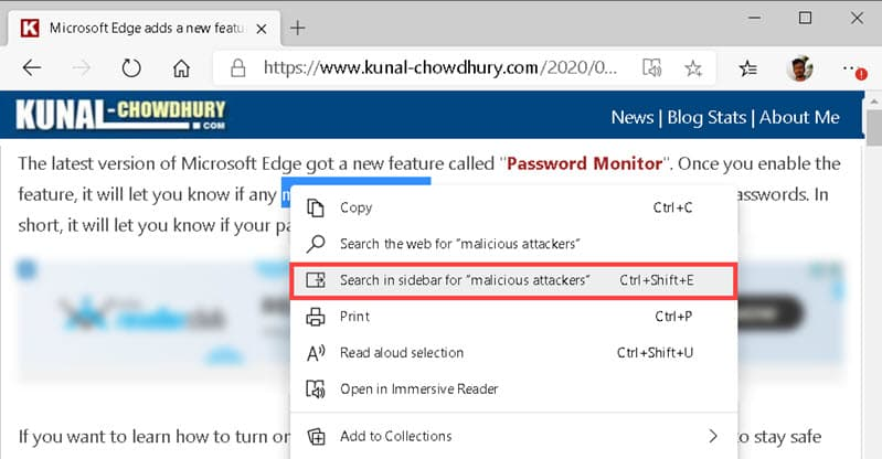 Microsoft Edge adds 'Search in Sidebar' feature to most recent Canary build