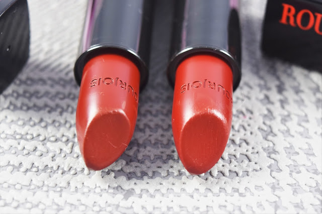 Bourjois Rouge Edition 12-Hour Lipstick 45 & 46 swatches