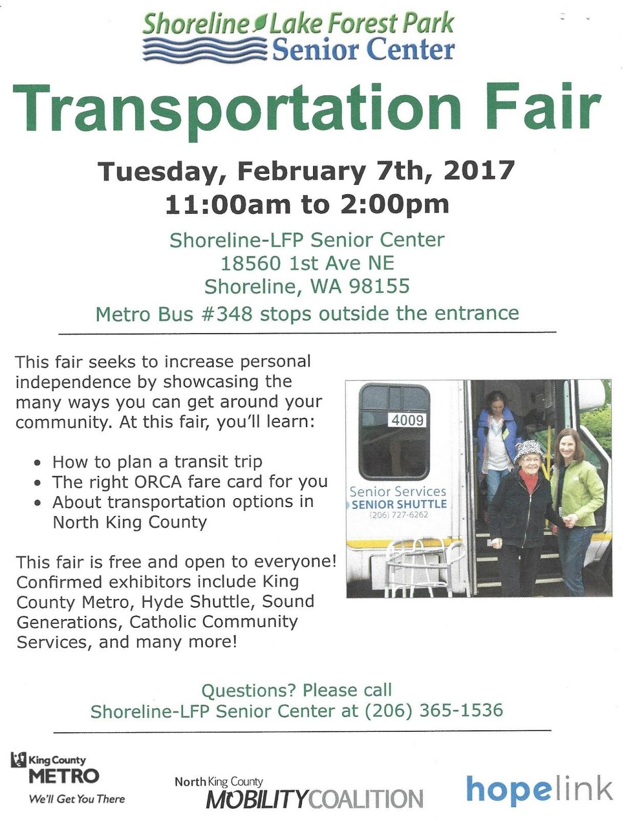 Shoreline Area News Transportation Fair Showcases Alternatives To