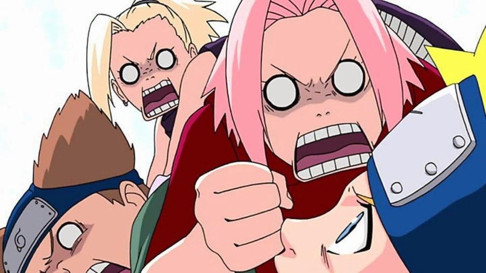 Sakura quiere golpear a Naruto