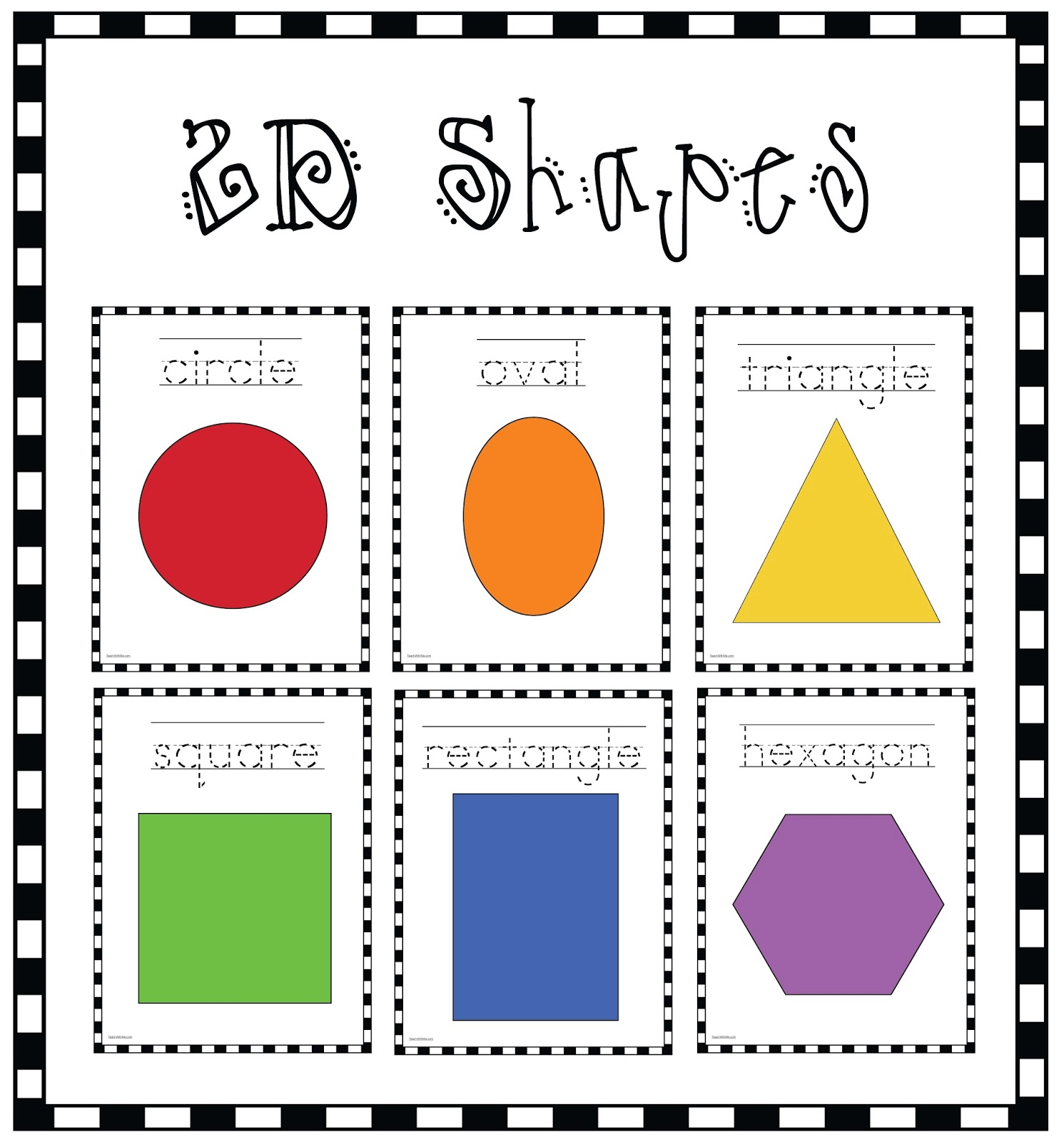 2d Shapes Poster Packet