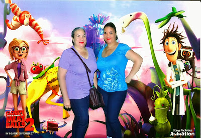 Left: Mama Butterfly and Right: ME! Ascending Butterfly enjoying our Cloudy with a Chance of Meatballs 2 Photo Booth Moment!